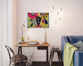 Wall art collage canvas print image - Cry