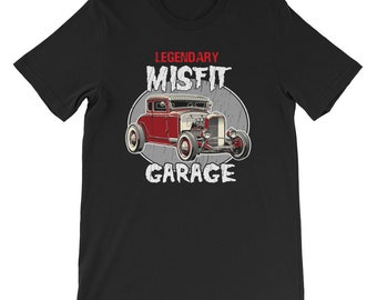 Legendary Misfit garage shirt-car shirt-Misfit golden knight shirt-father's day gifts