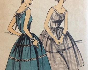 Advance 7131 misses sundress size 14 bust 32 vintage 1950's sewing pattern