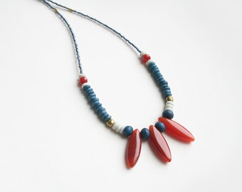Boho Necklace, Bohemian Jewelry, Tribal Necklace