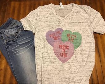 Valentine's Day shirt - Conversation Heart