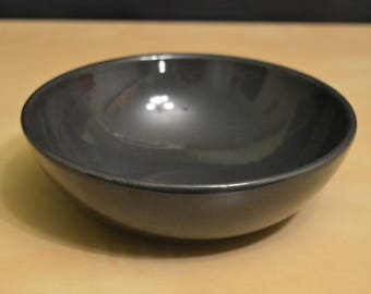 "Emile Henry France 21.16 6"" Small Individual Salad Bowl, Dark Gray Charcoal Slate"