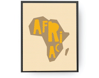 Africa Dots Poster, Kids Decoration, Map of Africa, Educational Print, Continent Map, Classroom Decor, Nursery Wall Art, Typography Poster