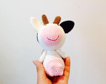 Crochet Cow, Cow Plush Toy, Crochet Cow Children Photo Prop, Handmade Cow, Amigurumi Cow
