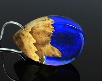 Blue Statement Necklace, Blue Opal Pendant, Statement Jewelry, Statement Pendant Necklace, Occasion Jewelry, Statement Opal Jewelry