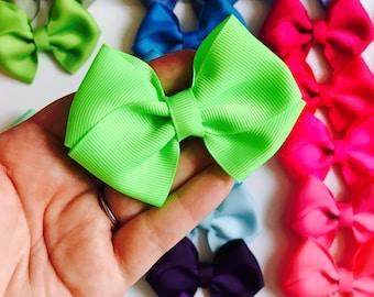 Mini Bow Singles, clip bows, hair bows, bow headbands, bow clips, baby bows, toddler bows, girls bows, infant headband