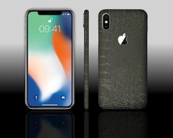 iPhone X 10 Black Croc Phone Skin