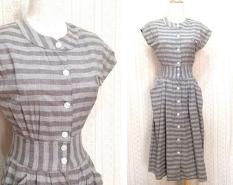 "1980s dress XS / S ""Tori"" district scottish checked vintage dress, short sleeve midi dress, summer dress, us size 4 6, country 90s clothing"