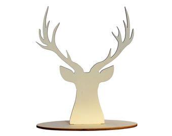 1 Deer bijoux stand, Jewellery stand and bijoux organiser deer head, Bijoux stand with reindeer head shape perfect gift for her - SET 1 deer