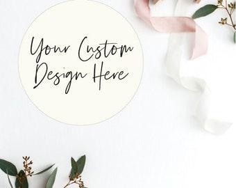 Personalised/Custom Stickers, Labels, Envelope Seal - Real Foil