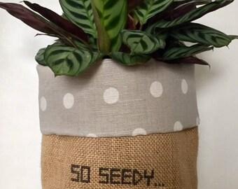 So Seedy... natural + polka dot