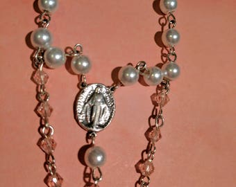 Rosary Bracelet with Sterling Silver Cross