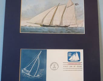 """1851 - the Yacht """"America"""" wins the Cup & First day Cover for the America's Cup"""
