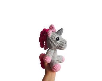 READY TO SHIP: crochet pony - my little pony - unicorn - amigurumi - crochet toy - gift for kids