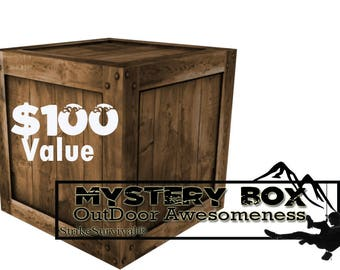 Mystery Survival Box- 100 dollars worth of survival and outdoor gear