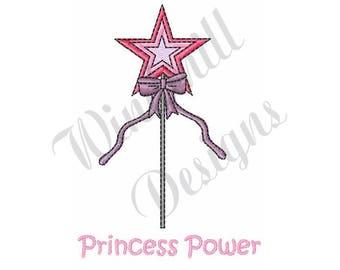 Princess Power Wand - Machine Embroidery Design