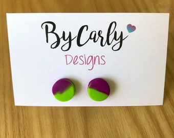 Polymer clay extra small stud earrings