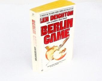 Berlin Game: Len Deighton (1985, Ballantine) Vintage Spy Thriller Mystery Fiction