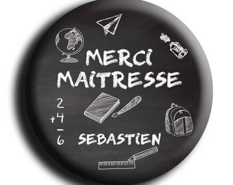 Magnet personalized for centerpiece, table black 50 mm