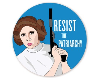 Feminist Princess Leia Sticker