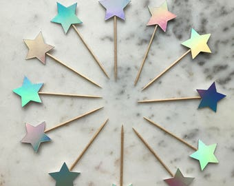 Star Cupcake topper. Cupcake Toppers. Cake Toppers. Birthday, Wedding, Engagement, Anniversary. All colours available.