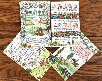 Vintage Garden Note Card Set with Box Garden Note Cards with Envelopes and Original Box Blank Note Cards
