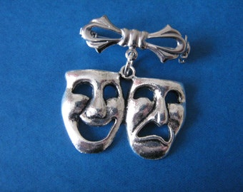 Comedy Tragedy Brooch Actor Stage Manager Gift Drama Teacher Theatre Thespian