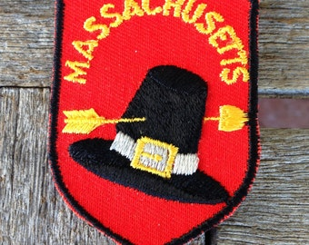 Massachusetts Vintage Souvenir Travel Patch from Voyager