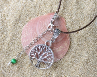 Necklace Tree of Life  - Spirituality, Pagan, Celtic, Wicca -  with Round Tree of Life Pendant 035