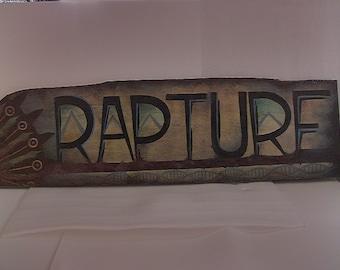 Rapture Bioshock decaying sign