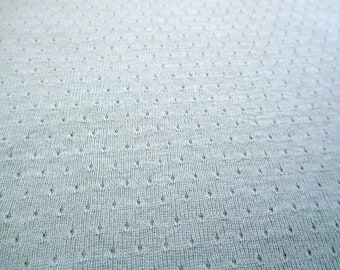 """AQUA POiNTELLE BABY KNiT COTTON FABRiC 1-1/2 Yards X 60"""" wide"""