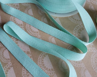 """MINT Twill Tape Trim -  Polyester - Sewing Banners Bunting Shipping Packaging - 1/2"""" Wide - 10 Yards"""