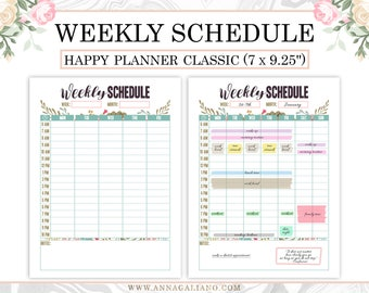 weekly hourly planners