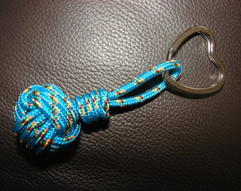Keychain Navy Apple de coil made type cord