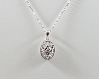 Sterling Silver .03 CT. Diamond Necklace