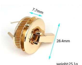 Twist locks Purse lock Turn Lock Fastner latch lock bag lock snap clutch lock tuck lock Decroative Lock