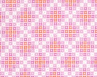 36108 -  1/2 yard of  Erin McMorris Weekends Hopscotch EM26 in Pink