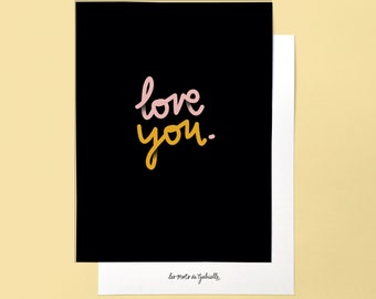 Love You poster - 18 x 24 cm