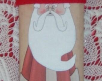 Santa Candy Wrapper Character Bar-Traditional, Santa candy wrapper, christmas candy wrapper