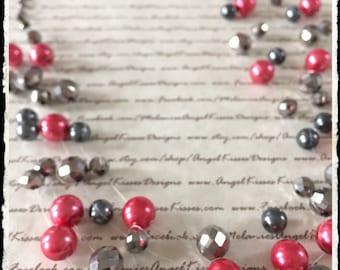 Floating Pearls- Raspberry Coal