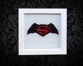 Batman v Superman 3D Box Frame Wall Art