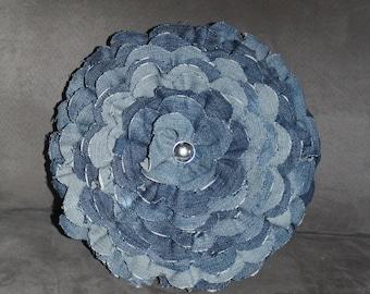 Cushion round jean flower