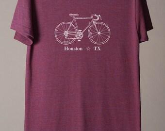 Houston bike tee, Houston t-shirt, Houston Texas tee, Texas t-shirt, Houston cycling