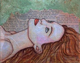 Mixed media painting, Sunnymixedmedia