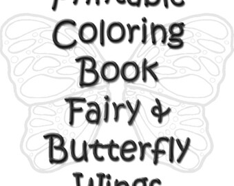 Coloring Book Printable Color Pages Digital Coloring Pages Adult Butterfly Wings Fairy Wing Templates 3 PDF Files 24 Images Instant Download