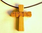 "Cherry Wood Cross ""J..."
