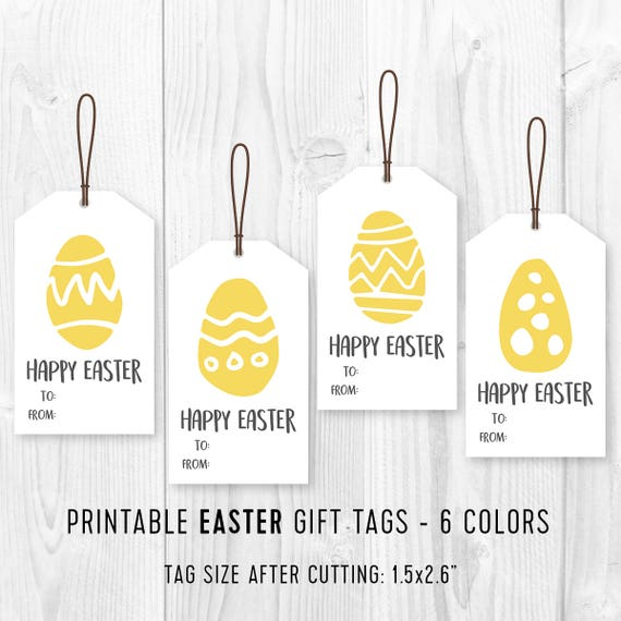 Printable easter favor tags diy easter eggs gift tags diy negle Choice Image