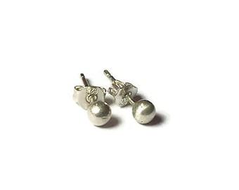 Tiny stud earrings- ball stud earrings- tiny earrings- 4mm stud earrings- dainty studs- stud earrings- tiny gold earrings