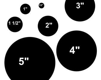 STENCIL Circle Polka Dots 7 Sizes in One Stencil