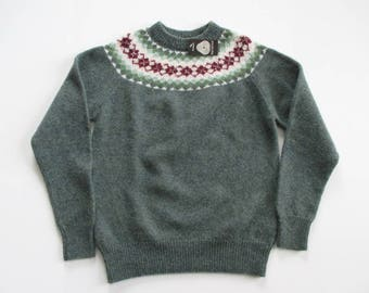 Icelandic Wool Ski Sweater Pullover Made in the United Kingdom new with tag